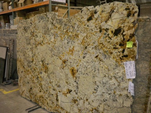 One of our granite slabs in the warehouse